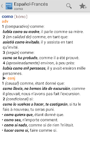 Vox French<>Spanish Dict. - screenshot