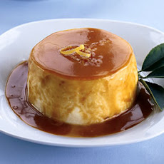 Chilled Lemon Souffles with Caramel Sauce