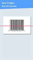 Screenshot of Cardswapp QR Barcode Scanner