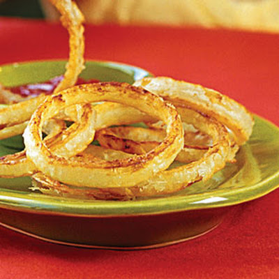 "Beer-battered ""Fried"" Onion Rings"