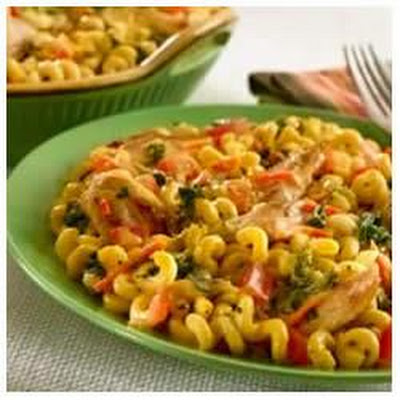 Cheddar Chicken Pasta and Vegetable Skillet Dinner