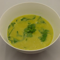 Coconut Curry Split Pea Soup With Rice And Spinach