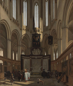 RIJKS: Emanuel de Witte: The Tomb of Michiel de Ruyter in the Nieuwe Kerk, Amsterdam 1683