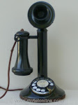 Candlestick Phones - AE Brass Bottom Low Boy Candlestick Telephone