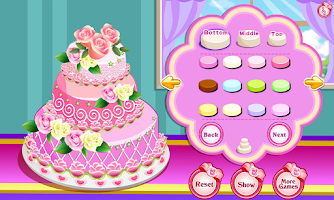 Screenshot of Rose Wedding Cake Game