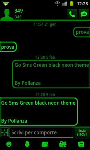 玩免費個人化APP|下載SMSグリーンブラックネオン行く app不用錢|硬是要APP