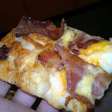 Bacon N Egg Pizza