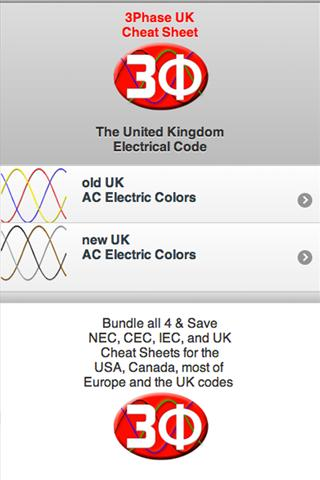 3Ph Cheat Sheet UK Electrical