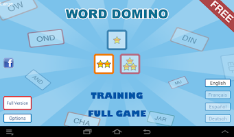 Screenshot of Word Domino Free, letter games