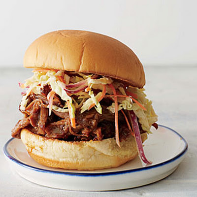 Bourbon-Peach Barbecue Pulled Pork Sliders