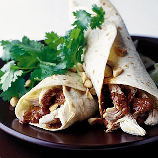 Chicken Enchiladas With Red Mole Sauce