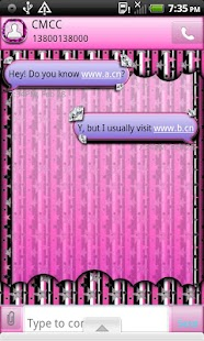 GO SMS THEME/BJeweledStars1 - screenshot