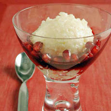 Rice Pudding with Pomegranate Syrup