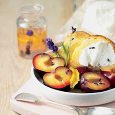 French Goat's Cheese With Plums In Lavender Syrup