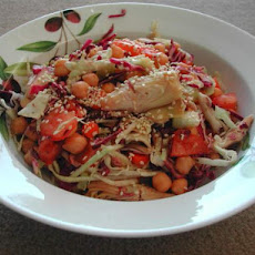 Easy Veggie Salad With Asian Dressing