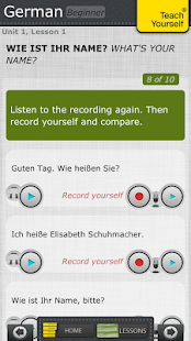 German course: Teach Yourself - screenshot