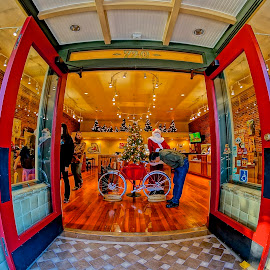 Come In by Barbara Brock - City,  Street & Park  Markets & Shops ( shopping district, fish-eye lens, storefront, fish-eye architecture, urban store )