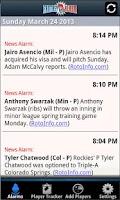 Screenshot of Fantasy Alarm Fantasy Baseball