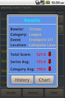 Screenshot of Bowling Score Tracker