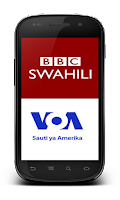 Screenshot of BBC Swahili + VOA