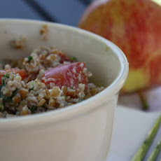 Bulgur Salad With Minted Yogurt Dressing