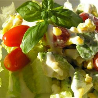 Avocado Corn Salad with Pine Nuts