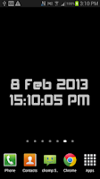 Screenshot of Digital Clock Wallpaper FREE