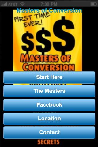 The Masters Of Conversion