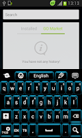 Screenshot of Neon Keypad Blue