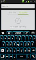 Screenshot of Neon Keypad Blue
