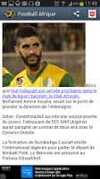 Screenshot of Football Afrique (Sport)
