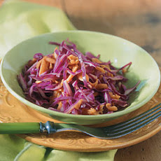 Red-Orange Coleslaw with Sweet Dijon Dressing