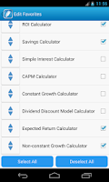 Screenshot of Financial Calculators Free