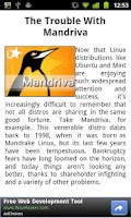 Screenshot of Linux News