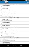Screenshot of Peak Seats Ticket App Concerts
