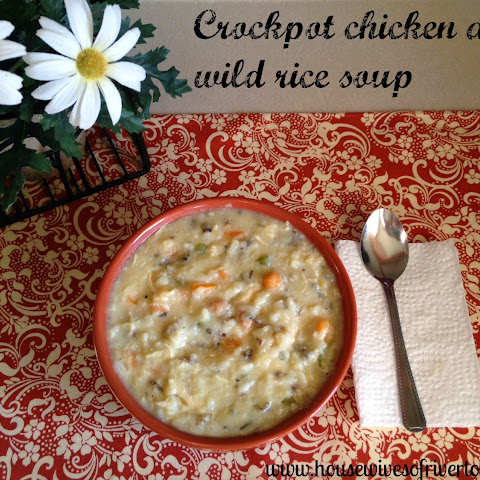 Crockpot Chicken And Wild Rice Soup