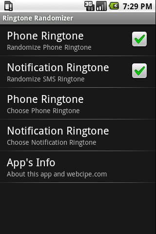 Ringtones Randomizer