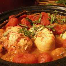 Spicy Chicken Tagine With Apricots, Rosemary, and Ginger