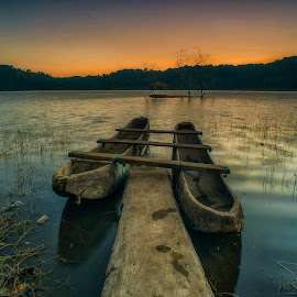 Twins #II by Bayu Adnyana - Transportation Boats ( bali, boats, transportation, boats boating, boat, tamblingan )