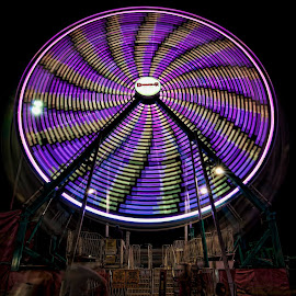 Small Ferris Wheel by Dawn Robinson - City,  Street & Park  Amusement Parks