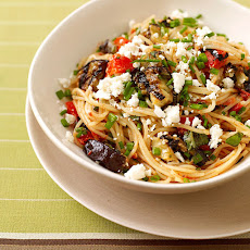 Angel Hair Pasta with Eggplant-Tomato Sauce