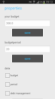 Screenshot of Budget Management
