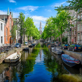 Amsterdam by CK Lam - City,  Street & Park  Neighborhoods ( groenburgwal, reflection, europe, zuiderkerk, holland, streets, amsterdam, cityscape, canal, netherlands, city )