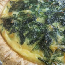 Brunch Quiche of Spinach and Gouda