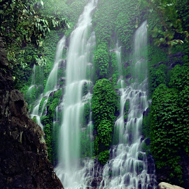 maung waterfall  by M Junius Arito - Landscapes Waterscapes ( slowspeed, waterscape, indonesia, waterfall, landscape )