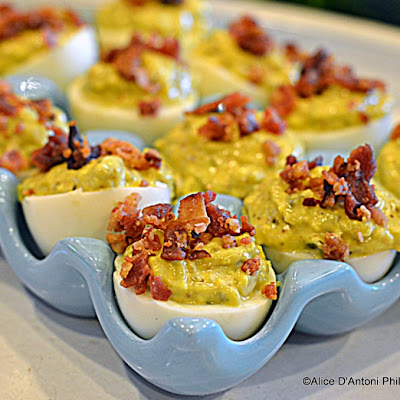 Spicy Jalapeno Bacon Deviled Eggs