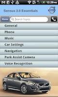 Screenshot of Volvo Sensus Quick Start Guide