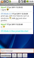 Screenshot of SuperBlue Free Bluetooth Chat