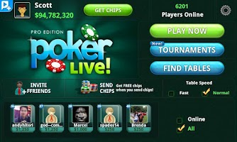 Screenshot of Poker LIVE! Pro Edition