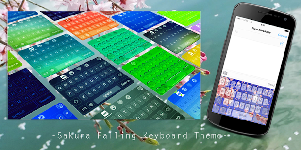Sakura Falling Keyboard Theme - screenshot